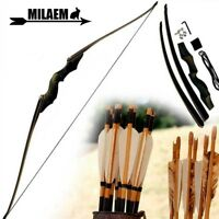 "60"" Longbow Takedown 30-60lbs Bow Hunting Recurve Bamboo Core Limbs Right Hand"