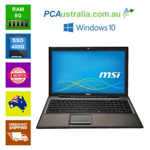 """MSI CR61 2M 15.6"""" Notebook Laptop Intel Pentium,DVD , Webcam, Wi-Fi Win 10"""