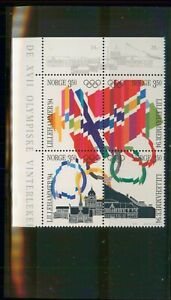 MayfairStamps Norway 1994 Lillehammer Flags & Buildings Olympics MNH Souvenir Sh