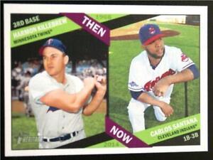 2015 Topps Heritage Then and Now #TAN5 Carlos Santana Harmon Killebrew - NM-MT