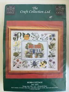 The Craft Collection Ltd Cross Stitch Kit - Herb Cottage 14 Count 51cm X42.5 Cm
