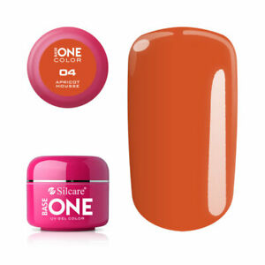 Base One UV GEL COLOUR APRICOT MOUSSE 5G - FREE SHIPPING