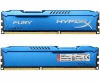 8GB 2x 4GB DDR3 PC3-12800 1600 MHz Kingston HyperX FURY DIMM Desktop Memory 1.5V