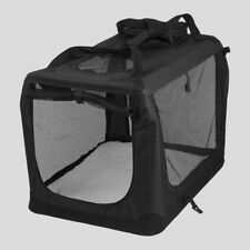 tissu animal de compagnie porte Noir pliage Chien Chat Chiot sac transport grand