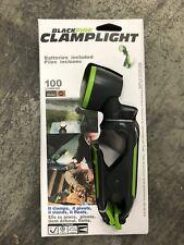 Blackfire BBM888-2 Clamp Light 100 lumens LED  AAA  Green and Black