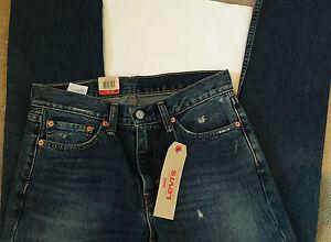 """BNWT Levi's 511 Distressed Blue Men's Jeans. Size 32""""W X 34""""L"""