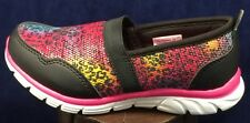 Girls' Pink Black Leopard Champion Unwind Sports Comfort Slip-On Memory Foam