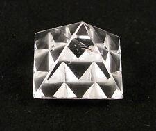 Massage Pyramid Crystal QUARTZ Generator Energy Healing 27x27mm #In3