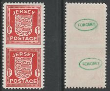 GB Jersey 3688 - 1941 brazos 1d IMPERF entre Vert par falsificación Menta desmontado