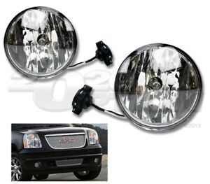OE STYLE FOG LIGHTS PAIR CLEAR LAMPS FOR 07-14 YUKON XL SUBURBAN TAHOE AVALANCHE
