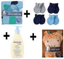 Gerber,Onesies,Aveno Baby Towels,Washcloths, Mitten, Lotion, Gift, Shower Set