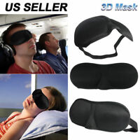 Travel 3D Eye Mask Sleep Soft Padded Shade Cover Relax Sleeping Aid Blindfold WO