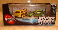 100% Hot Wheels Super Street Magazine Ford Focus & Honda Civic Si 2 Vehicle Set