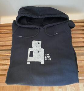 The Bad Plus Prog Black Hooded Sweatshirt, 2007 Concert Merch, Medium, Rare!