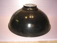 Joli ancien abat-jour, lustre, tôle émaillée, diamètre : 52 cm, usine, loft