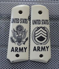 New Design! Colt 1911 Scrimshaw U.S. Army Sargent! Very Nice!