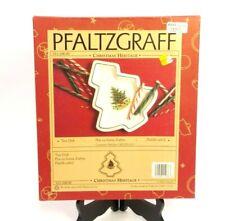 PFALTZGRAFF CHRISTMAS HERITAGE TREE DISH 012-206-00 1994 W/BOX HOLIDAY