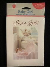 Baby Girl Birth Announcements Vintage American Greetings Corp. New