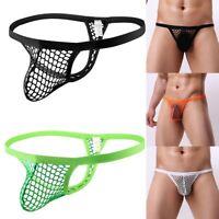 Sexy Herren Thong Tanga G String Mini Slip Männer Netz Unterwäsche Unterhosen