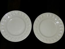 "Wedgwood White Festivity 2 Bread & Butter Plates 7 1/4"", FREE SHIPPING"