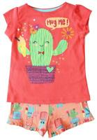 Girls T-Shirt Shorts Top Outfit Hug Me Cactus Flower Summer Set 2 to 6 Years