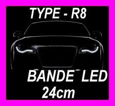 BANDE A LED SOUPLE BLANCHE PHARE FEUX DE JOUR DIURNE RUBAN LUMINEUX BLANC XENON