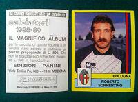 CALCIATORI 1988-89 1989 n. 56 BOLOGNA SORRENTINO - Figurine Panini con velina