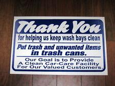 Auto Repair Shop Sign: Help Keep Wash Bays Clean
