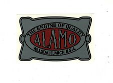 Alamo Gas Engine Motor Hit & Miss Decal Hillsdale Michigan