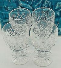 More details for scarce stunning signed 4 x set signed crystal cut small waterford irish glasses