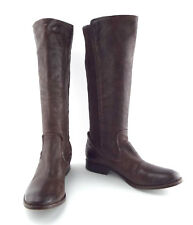 New FRYE Size 9 MELISSA SCRUNCH Tall Brown Leather Boots 8.5