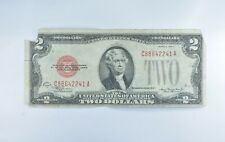 1928-D Red Seal $2.00 United States Note - Legal Tender - Historic *349