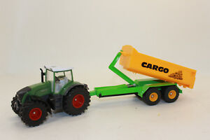 Siku 1989 Fendt 936 With Hook Lift Chassis And Dump Truck Cargo 1:50 New Boxed
