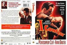I Confess ~ New DVD ~ Montgomery Clift, Anne Baxter, Karl Malden (1953)