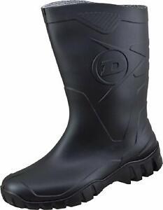 Dunlop DEE Kurzstiefel schwarz Gummistiefel Stiefel für Gartenarbeit Gassirunde