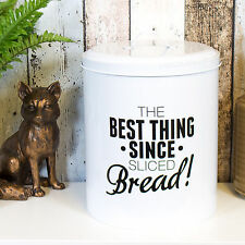 Best Thing White Enamel Bread Container Box Storage Bin Crock Kitchen Worktop