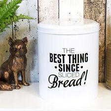 Retro White Enamel Bread Baking Storage Bin Crock Container Box Kitchen Worktop