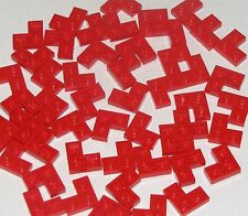 Lego Lot of 50 New Red Plates 2 x 2 Plates Corner