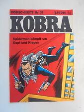 Kobra Comic Heft Nr.39 eingetütet & geboardet Zustand 1-2