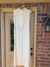 """NWT Vintage Lingerie By Dixie Belle FLORAL Gown Sz Small 52"""" Long Semi Sheer"""
