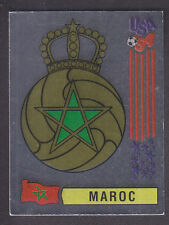 Panini - USA 94 World Cup - # 401 Maroc Foil Badge (Black Back)