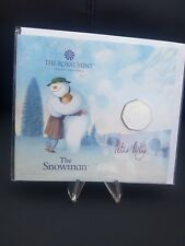 50p 2020 snowman royal mint signed by peter auty Christmas rare limited edition