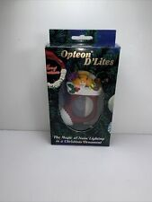 Vintage Light Christmas Ornament Opteon D'Lites Stocking With Toys