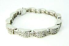 14k White Gold 216 Diamonds Unique Bracelet 7.00 TCW ( G  I1 )