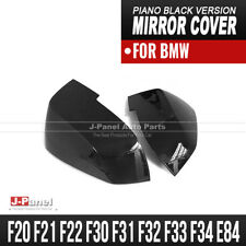 GLOSS BLACK REPLACEMENT SIDE MIRROR COVER WING SET for BMW 1 2 3 4 SERIES X1 LCI