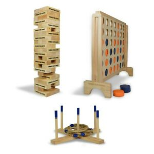 Giant Jenga | Giant Connect 4 | Giant Quoits Ring Toss | Family Outdoor Games