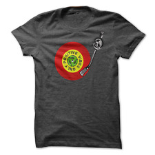 MENS  T-SHIRT Positive Vibes Only Red Gold Green Vinyl Deck