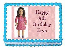American Girl edible party cake topper cake image sheet
