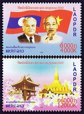 LAOS 2012 Cooperation Laos - Vietnam**  MI 2226-2227** MNH