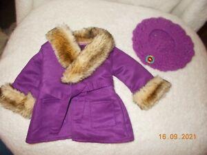 AMERICAN GIRL JULIE'S PURPLE WINTER COAT HAT COMPLETE